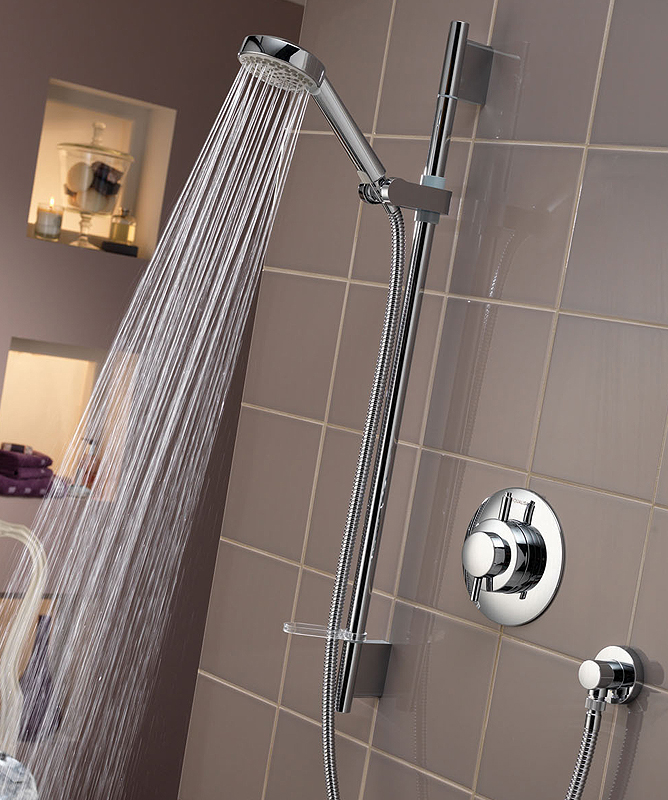 Zoo 2 hole deck mounted bath shower mixer on display in the A&R Bathroom Solutions, 129 Old County Road, Crumlin, Dublin 12, Ireland